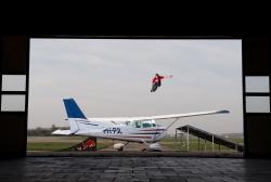 Air plane 360 jump